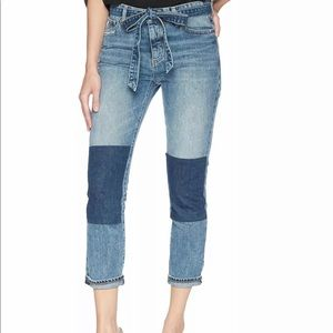 Lucky Brand 🍀 color block belted cropped jeans